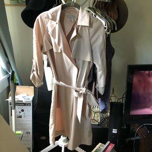 H&M blush trench coat